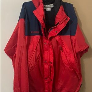Mens L columbia rain jacket